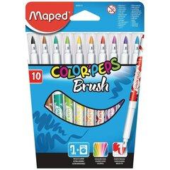 Flomāsteri ColorPeps Brush, 10 krāsas cena un informācija | Modelēšanas un gleznošanas piederumi | 220.lv