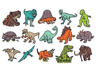 Spiedogu komplekts Aladine Stampo Kids Dinosaur ar krāsu, 15 gab. cena un informācija | Kancelejas preces | 220.lv
