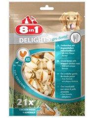 8in1 Dental Delights kauliņš, XS, 21 gab. cena un informācija | Gardumi suņiem | 220.lv