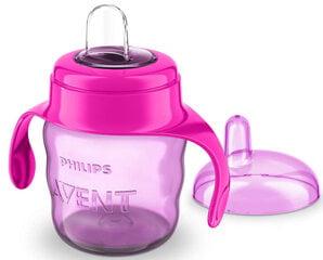 Непроливаемая кружка с силиконовым носиком Philips Avent Premium 200 мл, SCF551/03, розовая цена и информация | Для кормления ребенка | 220.lv