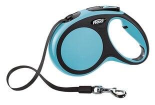 Flexi pavada New Comfort M, 5 m, zila cena un informācija | Pavadas, apkakles, siksnas suņiem | 220.lv