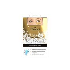 Коллагеновый пластырь с охлаждающим гелем L'Biotica Golden, 2 шт. цена и информация | Для уход за глазами | 220.lv