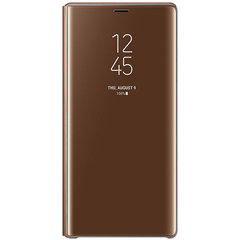 Samsung Galaxy Note 9 Clear View Standing Case Brown