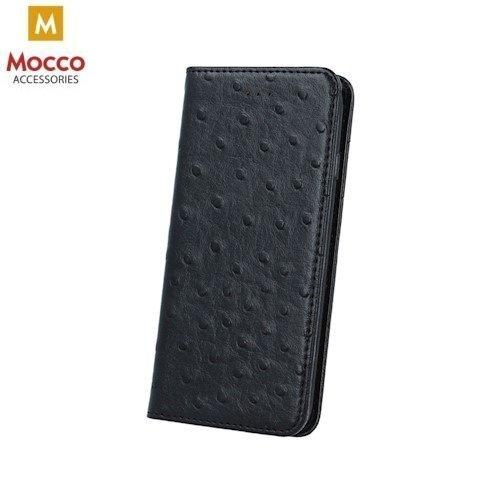 Aizsargmacinš - grāmatiņa Mocco Smart Dots, piemērots Huawei P8 Lite (2017) / P9 Lite (2017), melnā krāsā