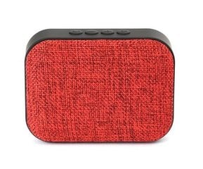 Omega OG58R Bluetooth 4.1 Wireless Speaker with FM Radio / Handsfree / MicroSD / USB / 3W / Red