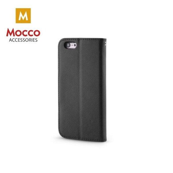 Aizsargmaciņš - grāmatiņa Mocco Fancy, piemērots Apple iPhone 5 / 5S / SE, melnā krāsā