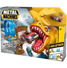 Trase ar automašīnas modeli Metal Machines Value Brand T-Rex, 6702