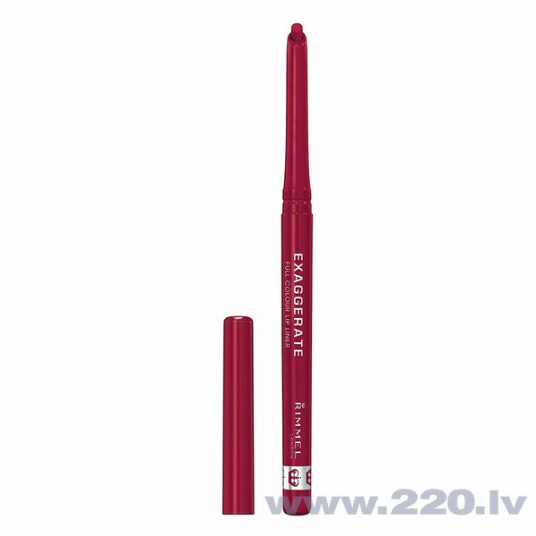 Automātisks lūpu kontūrzīmulis Rimmel London Exaggerate Full Colour 0.25 g, 024 Red Diva