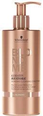 Atjaunojošs matu kondicionieris gaišiem un balinātiem matiem Schwarzkopf Professional BlondMe Keratin Restore Bonding 500 ml