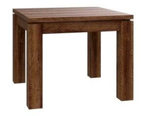 Paplašināms galds EST45, brūns cena un informācija | Virtuves un pusdienu galdi | 220.lv