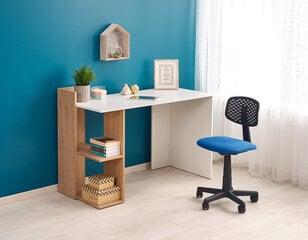 Письменный стол Halmar Fino, белый/дуб цена и информация | Компьютерные, письменные столы | 220.lv
