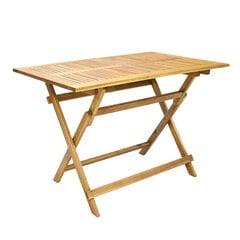 Saliekamais galds Finlay, brūns cena un informācija | Dārza galdi | 220.lv