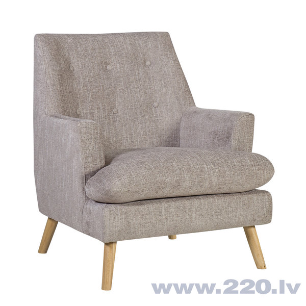 Krēsls Silvia, pelēks
