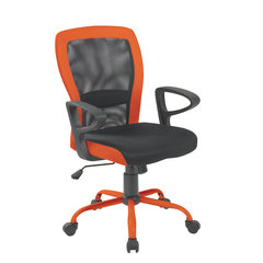 Biroja krēsls Leno, melns/oranžs