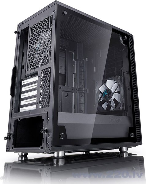 Fractal Design Define Mini C TG, juodas (FD-CA-DEF-MINI-C-BK-TG) internetā