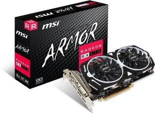 MSI Radeon RX 570 ARMOR OC 8GB GDDR5 (256 Bit), DVI-D, HDMI, 3xDisplayPort, BOX (RX 570 ARMOR 8G OC) cena un informācija | Videokartes (GPU) | 220.lv
