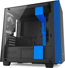 Nzxt NZXT H400 Black/Blue Window - microATX (CA-H400B-BL)