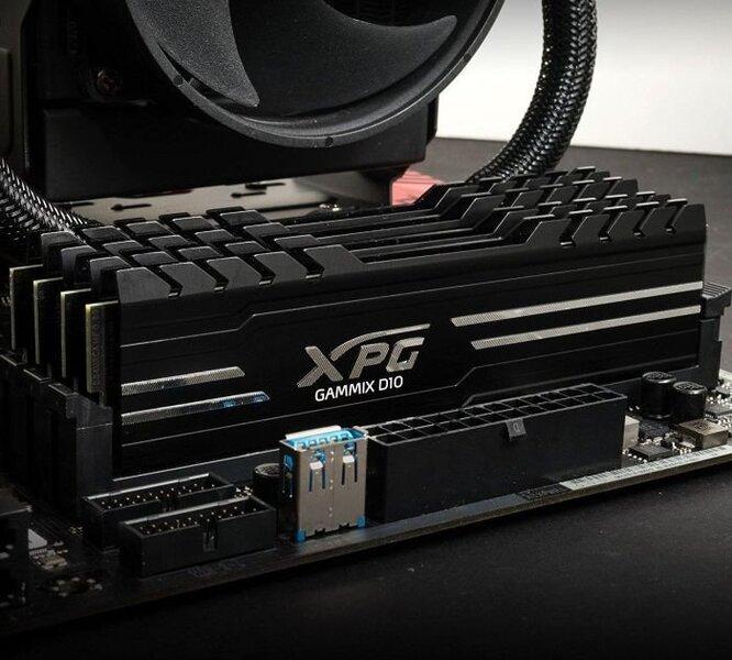 ADATA XPG GAMMIX D10 DDR4 16GB, 2666MHz, CL17 (AX4U2666316G16-SBG) cena