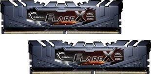 G.Skill Flare X DDR4, 2x16GB, 2400MHz, CL15 (F4-2400C15D-32GFX) cena un informācija | Operatīvā atmiņa (RAM) | 220.lv
