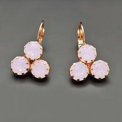 "Auskari sievietēm DiamondSky ""Crystal Lady II Rose Water Opal"" ar Swarovski kristāliem"
