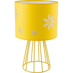 TK Lighting galda lampa Flora Yellow