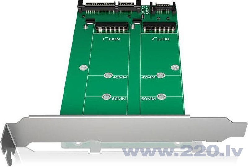 Icy Box Converter 2x SATA - 2x M.2 SATA (IB-CVB512-S)