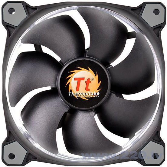 Thermaltake Fan Riing 12 LED, 120mm, 3 pcs, White (CL-F055-PL12WT-A) internetā