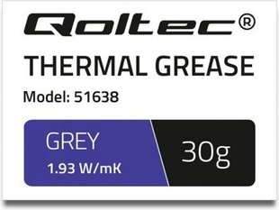 Qoltec Thermal grease 1.93 W / m-K | 30g | Gray (51638)