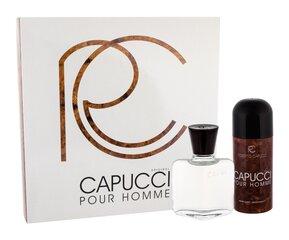 Komplekts Roberto Capucci Capucci pour Homme: EDT vīriešiem 100 ml + izsmidzināmais dezodorants 150 ml cena un informācija | Vīriešu smaržas | 220.lv