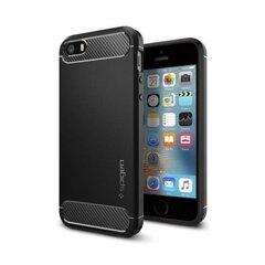 Spigen priekš iPhone 5/5S/SE, Melns cena un informācija | Maciņi, somiņas | 220.lv