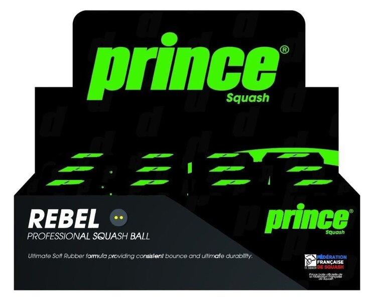 Skvoša bumbiņas Prince Rebel Double, 12 gab.