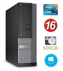Dell 3020 SFF i3-4130 16GB 500GB DVDRW WIN10Pro cena un informācija | Stacionārie datori | 220.lv