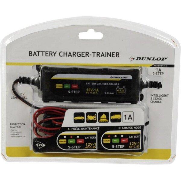Automātisks 5 pakāpju akumulatoru lādētājs Dunlop cena