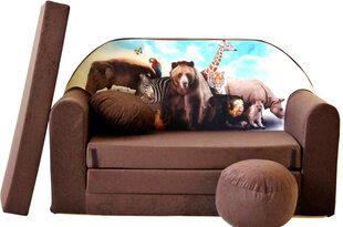 Izvelkamais dīvāns Welox Maxx K8, brūns cena un informācija | Sēžammaisi, klubkrēsli, pufi bērniem | 220.lv