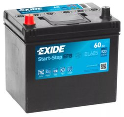 Akumulators EXIDE EL605 60 Ah 520 A