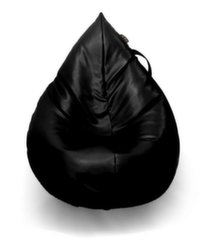 Sēžammaiss BeanBags Wave Drop, mākslīgā āda, melns