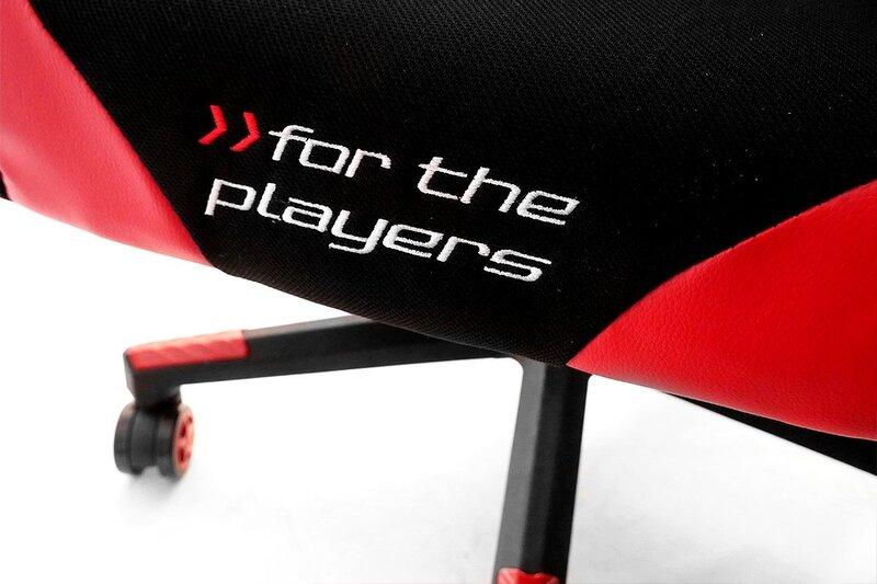 Игровое кресло Racer GTR, цвет черный/красный