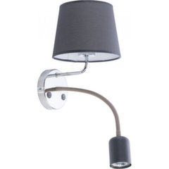 TK Lighting sienas lampa Maja LED Gray Chrome