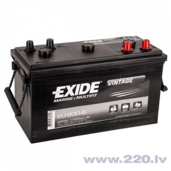 Akumulators EXIDE EU200-6 200 Ah 1150 A