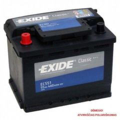 Akumulators EXIDE EC551 55 Ah 460 A