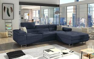Mīksts stūra dīvāns Armando, tumši zils cena un informācija | Dīvāni un krēsli | 220.lv