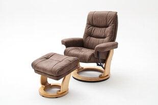 Krēsls Samone L, pelēks / gaiši brūns cena un informācija | Krēsls Samone L, pelēks / gaiši brūns | 220.lv