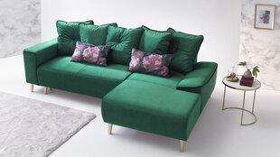 Mīksts stūra dīvāns BoboChic Hera I, zaļa cena un informācija | Stūra dīvāni | 220.lv