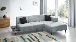 Mīkstais stūra dīvāns BoboChic Leo ar plauktu, zils