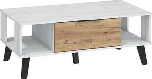 Galds Sven, 46x120x65 cm, balts/brūns цена и информация | Кофейные столики | 220.lv