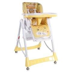 Barošanas krēsls Lorelli Primo Bear, Yellow cena un informācija | Barošanas krēsli | 220.lv