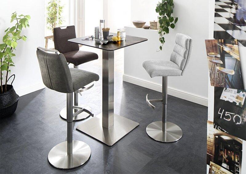 Барный стул Giulia A, натуральная кожа, коричневый