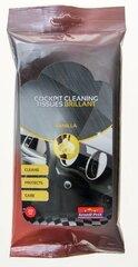 Mitrās salvetes automašīnas paneļa un vinila tīrīšanai Bottari Vanilla, 20 gab.