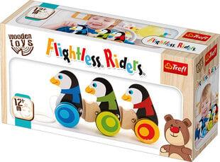 Koka rotaļlieta Ritošie pingvīni uz riteņiem Trefl