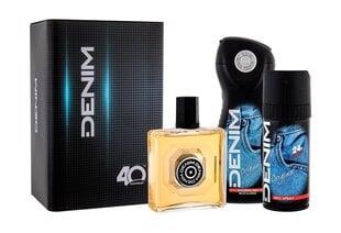 Komplekts Denim Original: losjons pēc skūšanās vīriešiem 100 ml + dušas želeja vīriešiem 250 ml + izsmidzināms dezodorants vīriešiem 150 ml